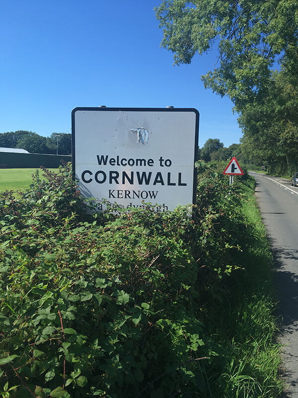 Welcome to Cornwall SIgn