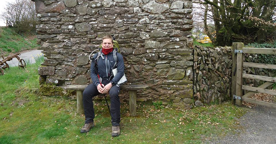 Having a rest at Hawkridge whilst out hiking