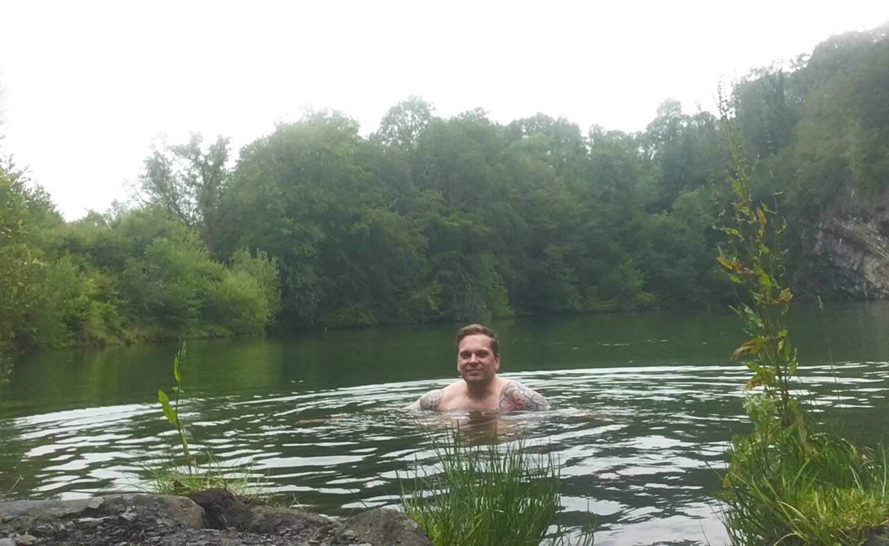 matthew wild swimming in meldon quarry