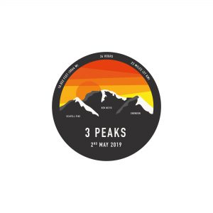 three peaks challenge sticker