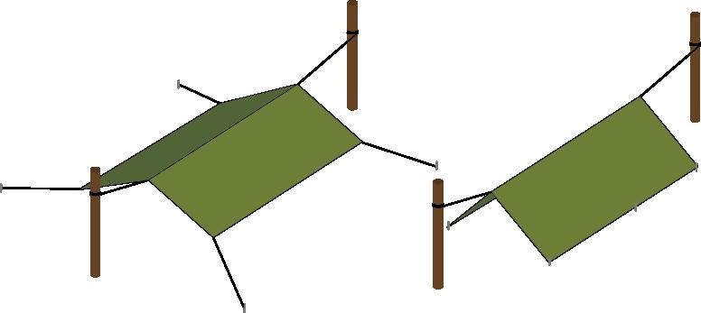 British Army military basha A Frame shelter